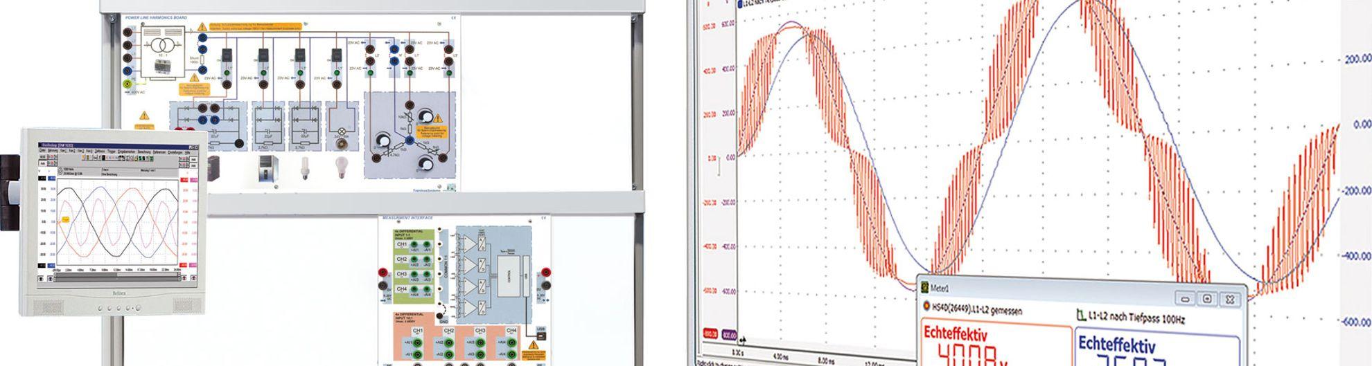 Sicherheit von elektrischen Anlagen und Betriebsmitteln - Belastung des Neutralleiters - Laborausstattung