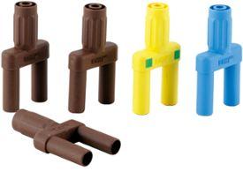 Set of 4mm safety bridge plug