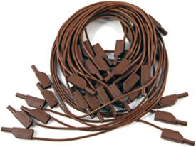 Set of safety measuring leads, 4 mm