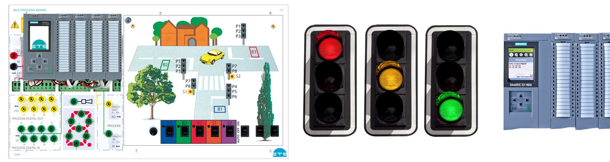 Plant Simulation - Bus Process Board with SPS
