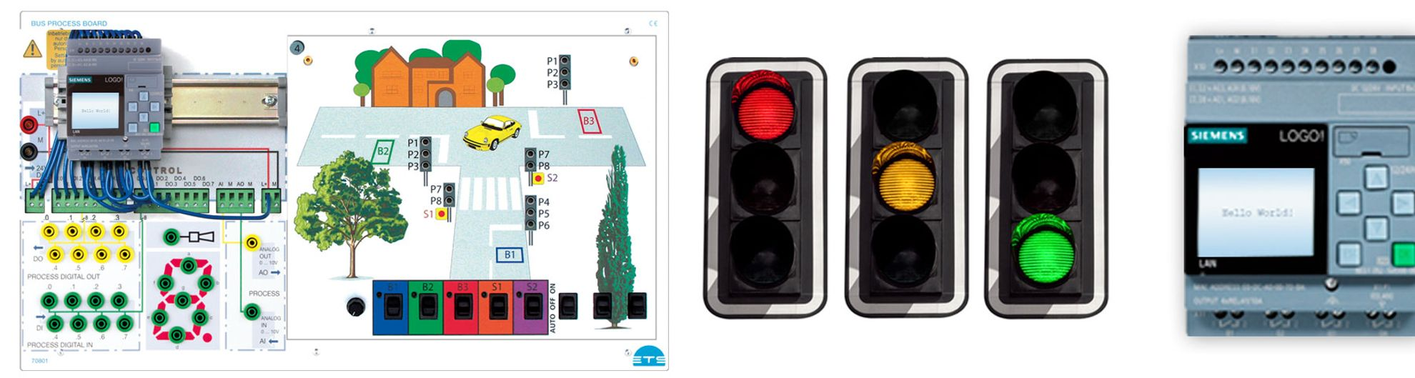 Plant Simulation - Bus Process Board with LOGO!